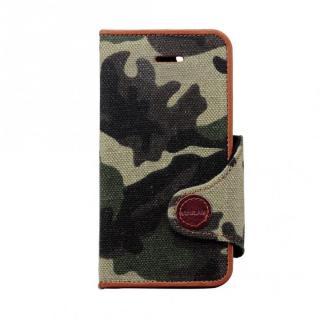 カモフラージュ柄カバー グリーン iPhone SE/5s/5/5c 手帳型ケース