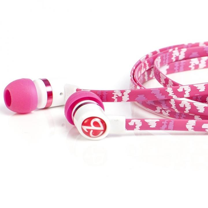 Pink Shock Earbuds With Mic_0