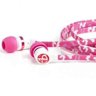 Pink Shock Earbuds With Mic