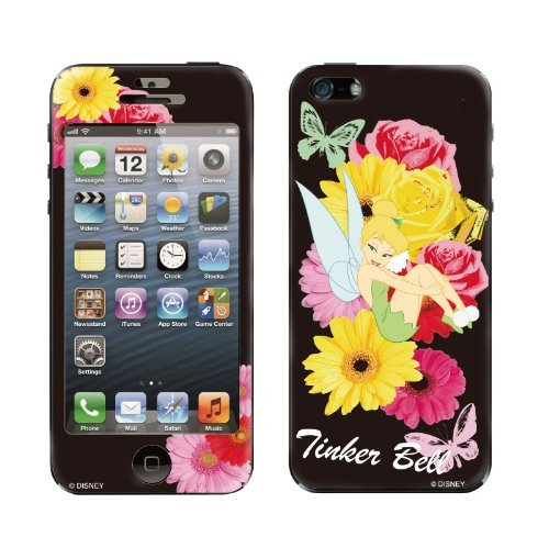 Gizmobies デザイン背面スキンシール TinkerBell Flower iPhone 5