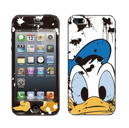iPhone SE/5s/5 ケース Gizmobies デザイン背面スキンシール Painting Duck iPhone 5_0