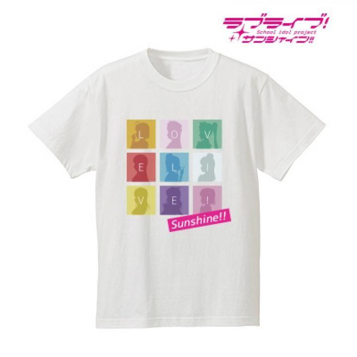 ラブライブ!サンシャイン!! シルエットモノグラムTシャツ メンズ  ホワイト/XLサイズ_0