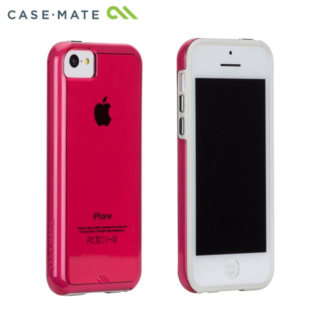 ハイブリッド タフ ネイキッド ケース ピンク /ホワイト iPhone 5cケース_0