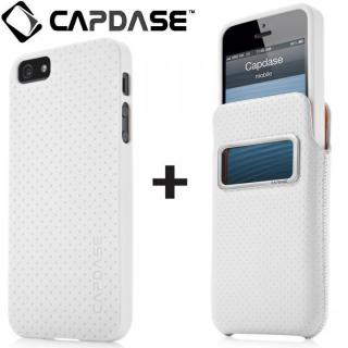 【iPhone SE ケース】アイ・ディー ポケット バリューセット, ポルカ ホワイト/ホワイト iPhone SE/5s/5ケース