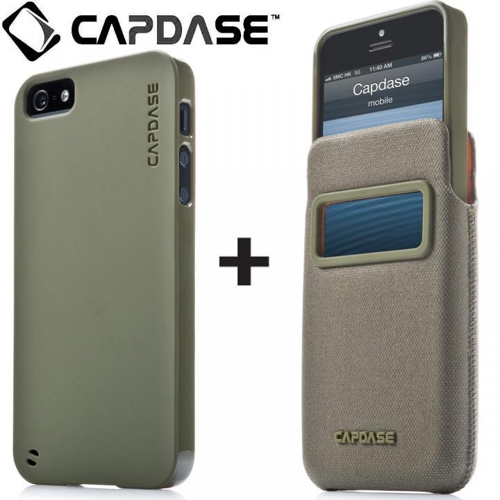 アイ・ディー ポケット バリューセット グリーン/グリーン iPhone SE/5s/5ケース