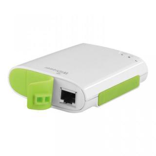 [5200mAh]有線LANをWi-Fiにする バッテリー搭載ポケットルーター(Wi-Fiカードリーダー付)
