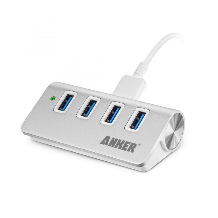 Anker USB3.0 高速ハブ 4ポート アルミ製 ポータブルバスパワー