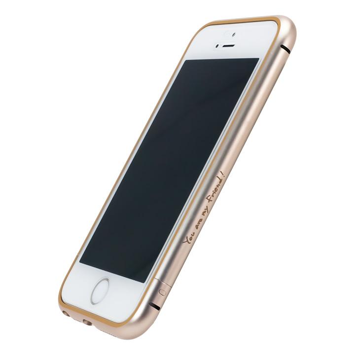 [新iPhone記念特価]AppBankのメタルバンパー ゴールド×ゴールド iPhone SE/5s/5