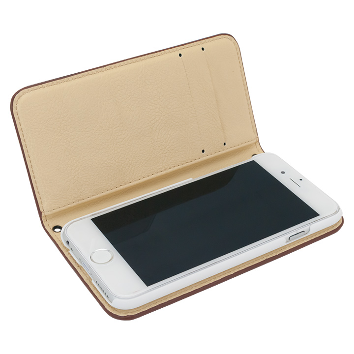 iPhone6s/6 A+ 手帳型ケース ブラウン×ベージュ iPhone 6s/6_0