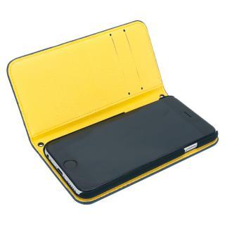 [A+リリース記念特価]A+ 手帳型ケース ネイビー×イエロー iPhone 6s/6【8月上旬】