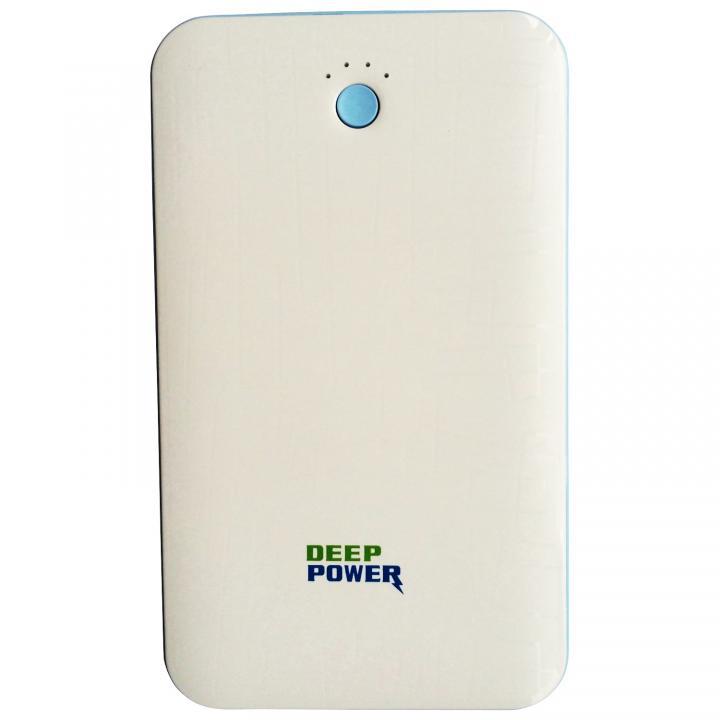 [6000mAh] 厚さ約1.1cm DEEP POWER DP-S418 モバイルバッテリー ホワイト_0