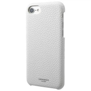 GRAMAS COLORS EURO Passione Shell PU Leather 背面ケース ホワイト iPhone 8/7/6s/6