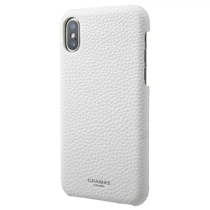 GRAMAS COLORS EURO Passione Shell PU Leather 背面ケース ホワイト iPhone X