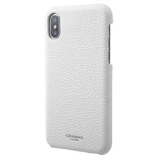 GRAMAS COLORS EURO Passione Shell PU Leather 背面ケース ホワイト iPhone XS/X