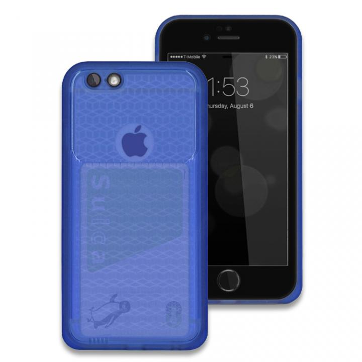 iPhone6s/6 ケース 薄い防水ケース JEMGUN Passport ディープブルー/前面ブラック iPhone 6s/6_0