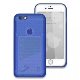薄い防水ケース JEMGUN Passport ディープブルー/前面ホワイト iPhone 6s/6