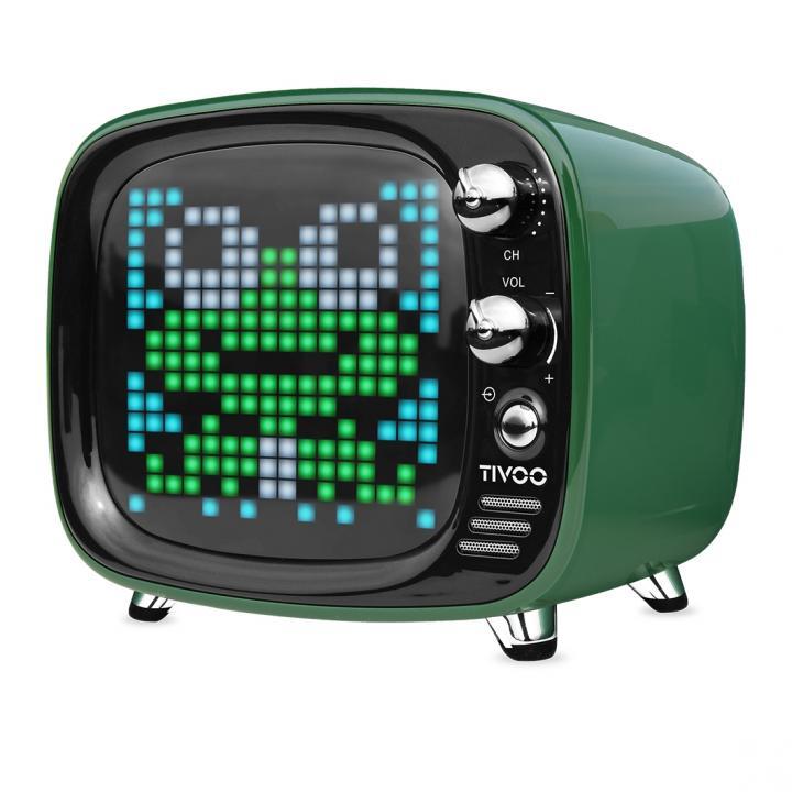 レトロテレビ型スピーカー Tivoo グリーン_0