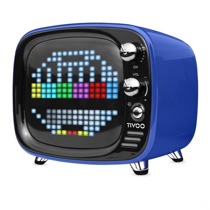 レトロテレビ型スピーカー Tivoo ブルー_0