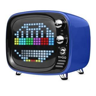 レトロテレビ型スピーカー Tivoo ブルー