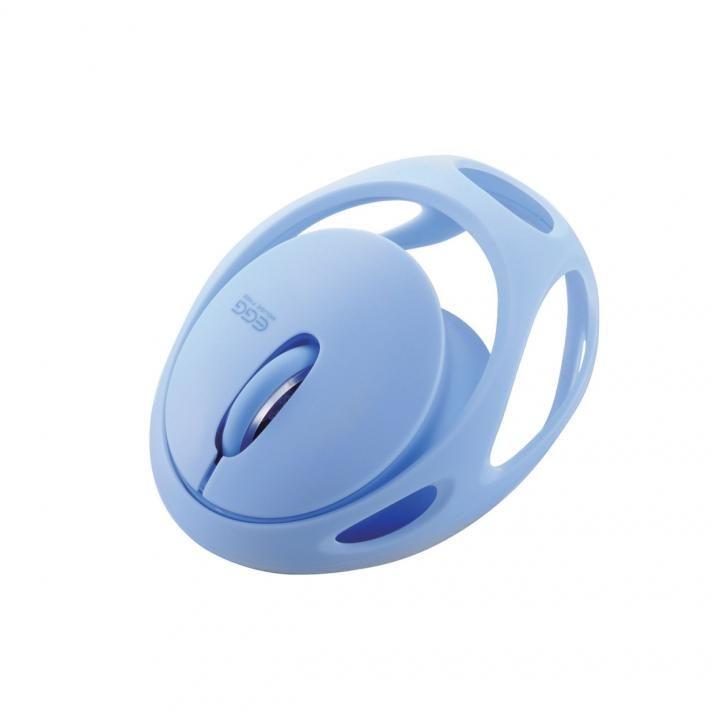 軽量ワイヤレス Bluetoothマウス EGG MOUSE FREE ブルー【7月下旬】