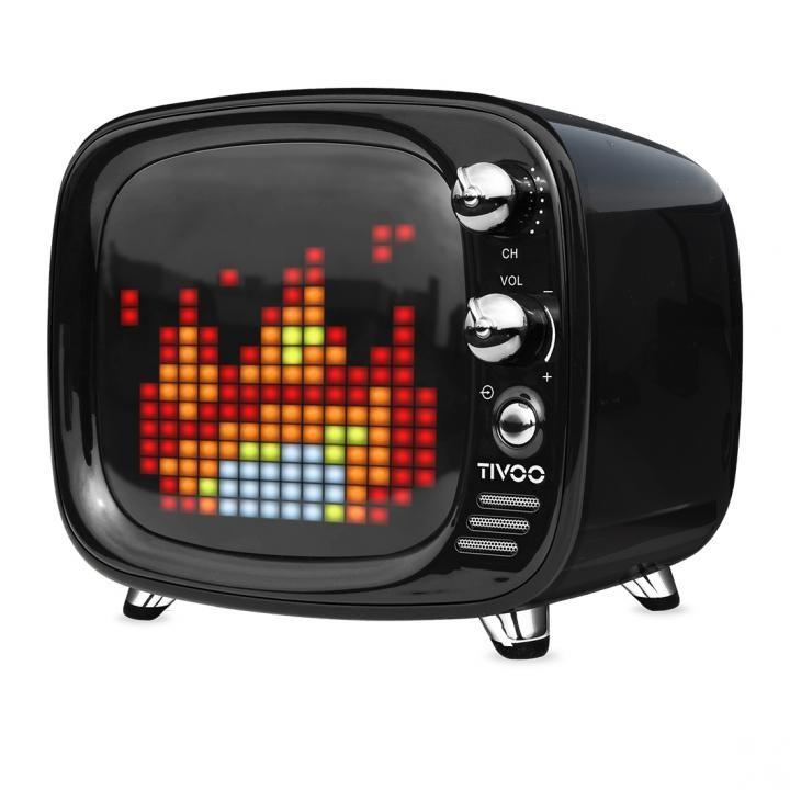 レトロテレビ型スピーカー Tivoo ブラック_0
