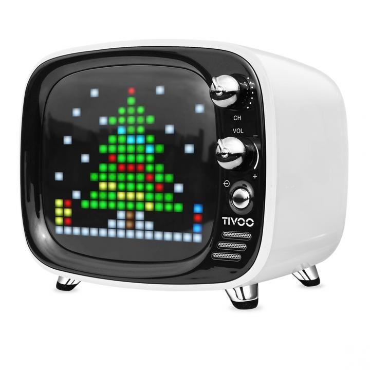 レトロテレビ型スピーカー Tivoo ホワイト_0