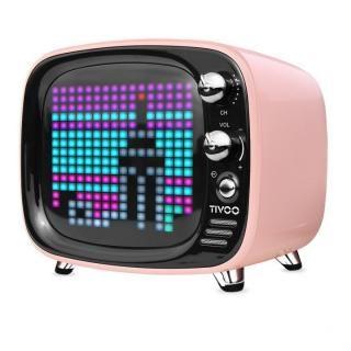 レトロテレビ型スピーカー Tivoo ピンク