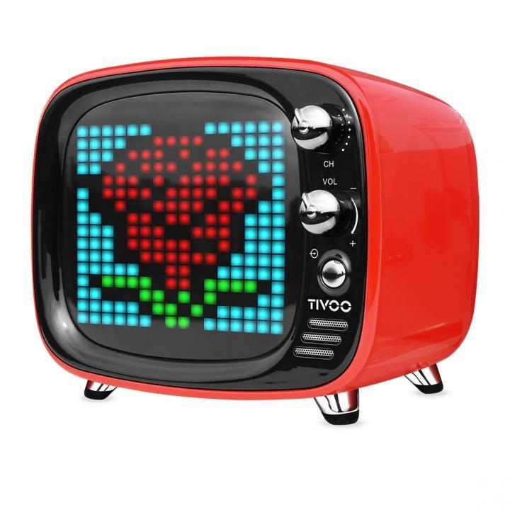 レトロテレビ型スピーカー Tivoo レッド_0