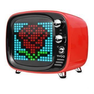 レトロテレビ型スピーカー Tivoo レッド