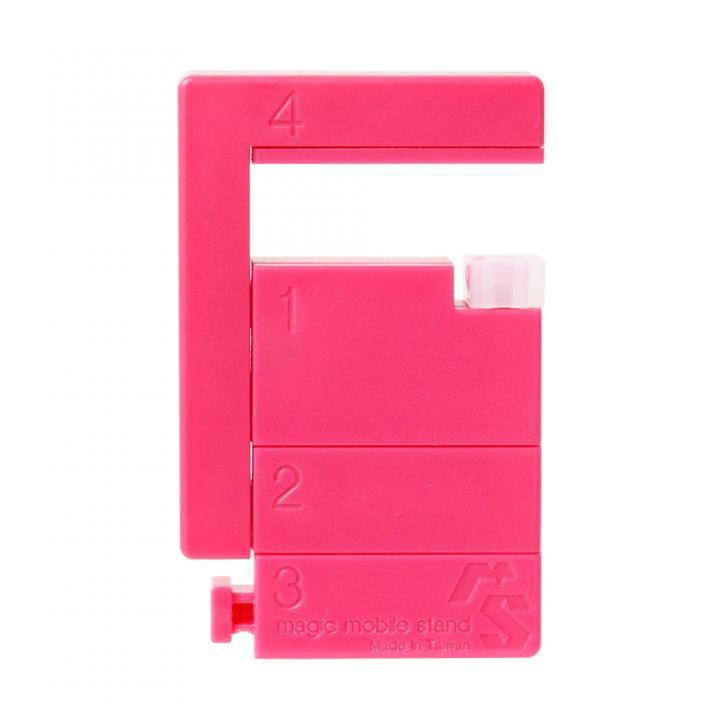 スマートフォン/タブレット対応 マジックモバイルスタンド ブロック組立式 ピンク_0