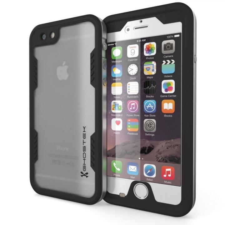 防水/耐衝撃アルミケース Ghostek Atomic 2.0 シルバー iPhone 6s Plus/6 Plus