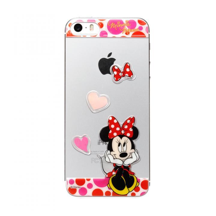 iPhone SE/5s/5 ディズニー デコレーションステッカー ミニーマウス/ピンク iPhone SE/5s/5 スキンシール_0