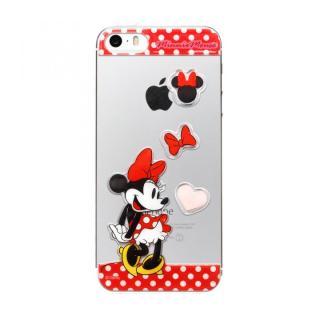 ディズニー デコレーションステッカー ミニーマウス/レッド iPhone SE/5s/5 スキンシール