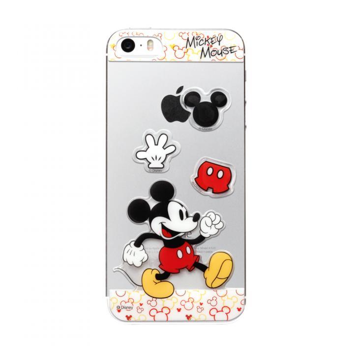 ディズニー デコレーションステッカー ミッキーマウス iPhone SE/5s/5 スキンシール
