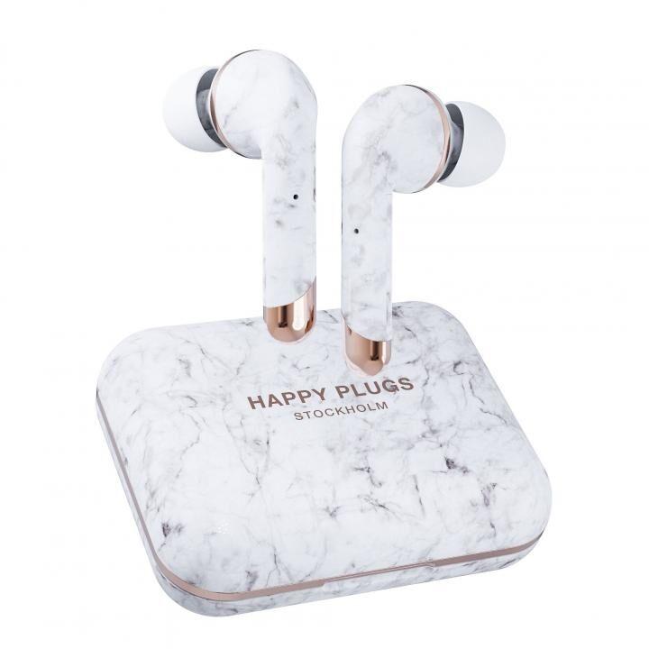 happy plugs AIR 1 PLUS IN-EAR 完全ワイヤレスイヤホン ホワイトマーブル_0