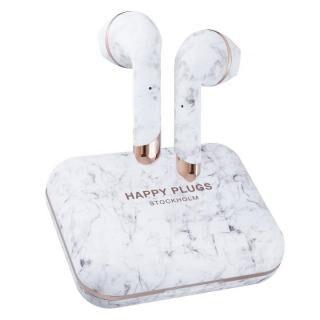 happy plugs AIR 1 PLUS EARBUD 完全ワイヤレスイヤホン ホワイトマーブル