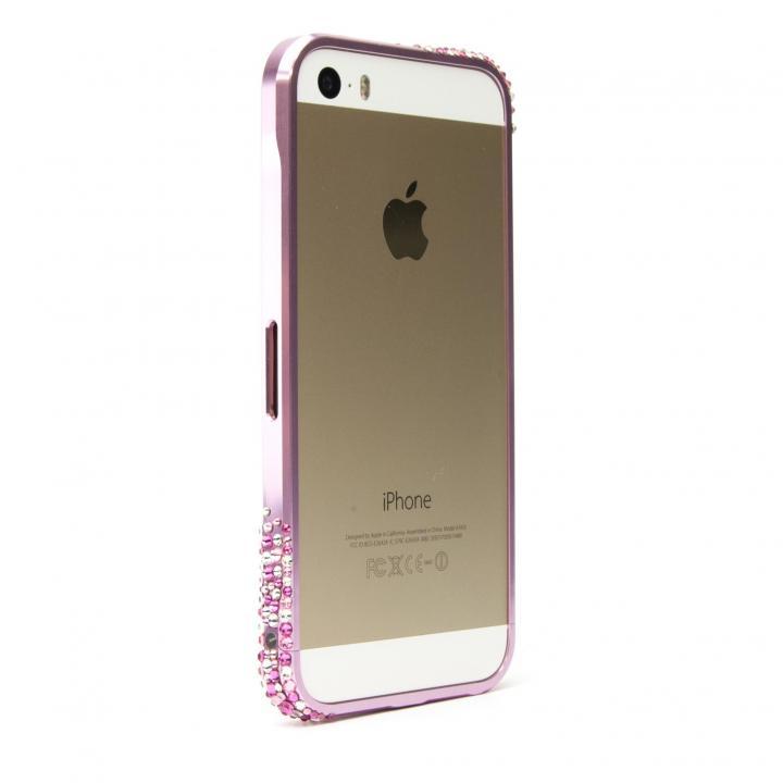 iPhone SE/5s/5 ケース [AppBank限定] SWORDα SS Version スワロフスキー パウダーピンク iPhone SE/5s/5ケース_0