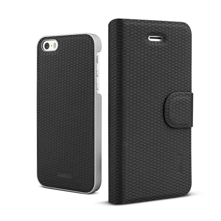 【iPhone SE/5s/5ケース】ケースとカバーが着脱可能 Anker 手帳型 iPhone SE/5s/5ケース_0