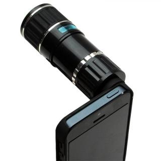 【iPhone SE/5s/5】12倍望遠レンズ付き iPhone SE/5s/5ケース 三脚セット_1