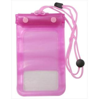 IPX8規格 スマートフォン用防水ケース  ピンク 多機種(iPhone/Andoroid)対応