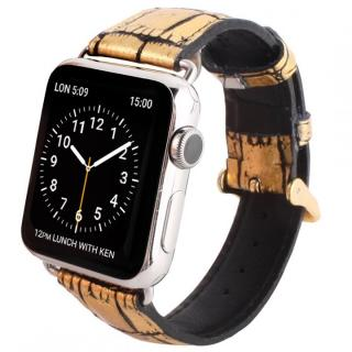 GAZE 42mm Apple Watch用天然牛革バンド ゴールドクロコ【7月下旬】