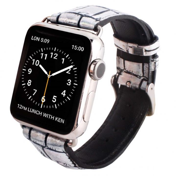 GAZE 38mm Apple Watch用天然牛革バンド ホログラムクロコ_0