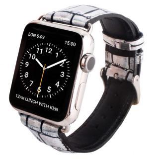 GAZE 38mm Apple Watch用天然牛革バンド ホログラムクロコ