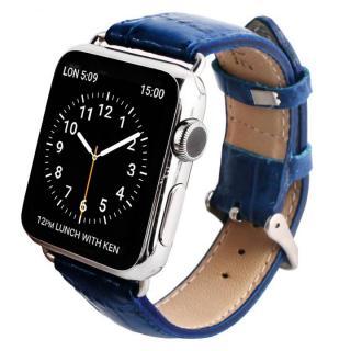 GAZE 38mm Apple Watch用天然牛革バンド コバルトブルークロコ【7月下旬】