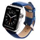 GAZE 38mm Apple Watch用天然牛革バンド コバルトブルークロコ