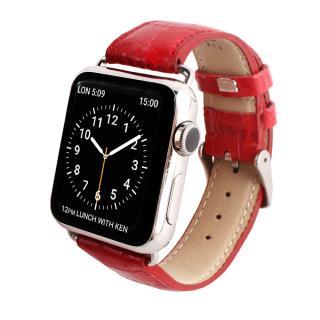GAZE 38mm Apple Watch用天然牛革バンド ルビークロコ