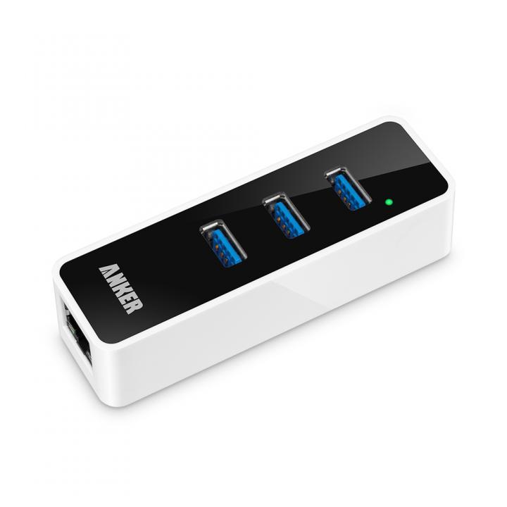 Anker USB 3.0 3ポート イーサネットハブ付属