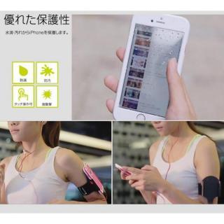 【iPhone6s/6ケース】Energia ケース一体型アームベルト ブラック iPhone 6s/6_6
