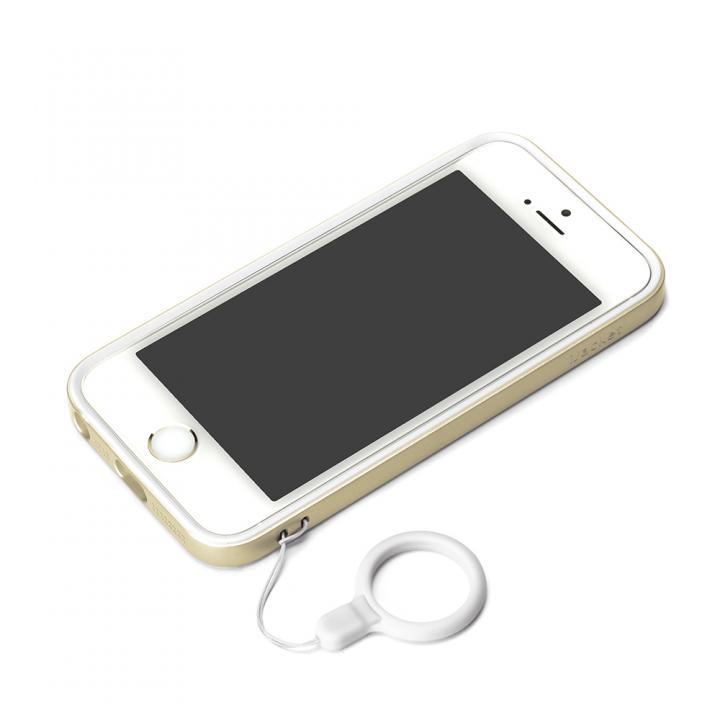 iPhone SE/5s/5 ケース ハイブリッド2層構造バンパー ゴールド iPhone SE/5s/5バンパー_0