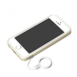 ハイブリッド2層構造バンパー ゴールド iPhone SE/5s/5バンパー